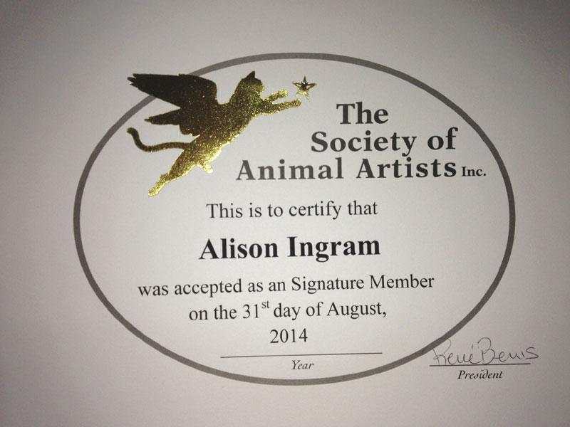 Saa Certificate Alison Ingram