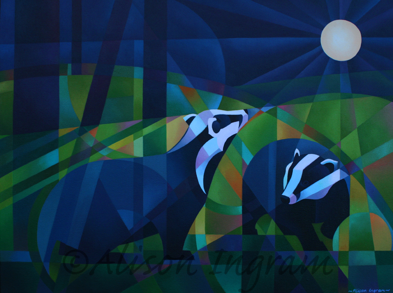 Badgers and full moon