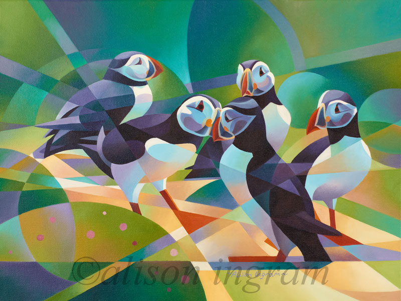Courting-Puffins-and-Thrift