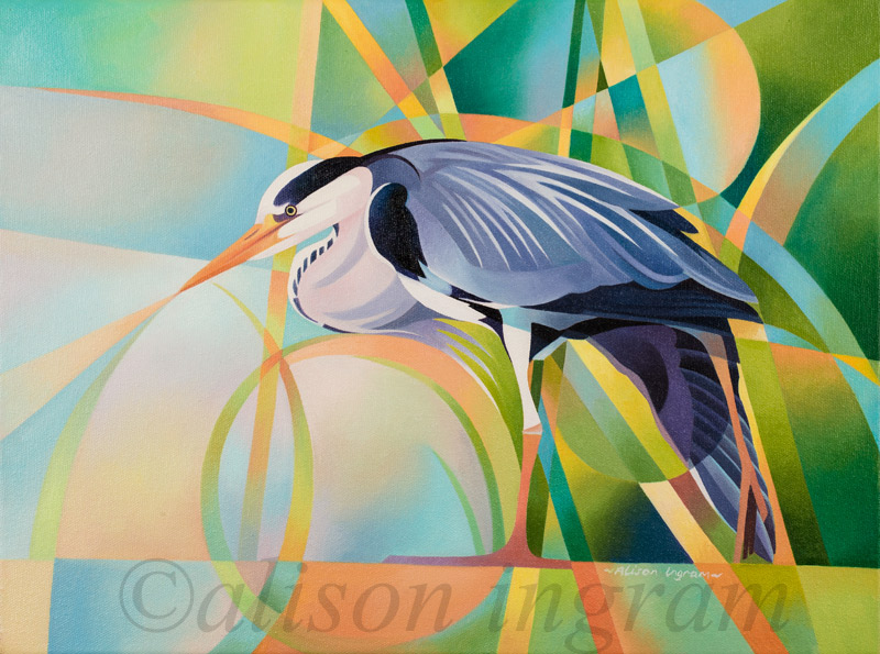 Stretching-Heron